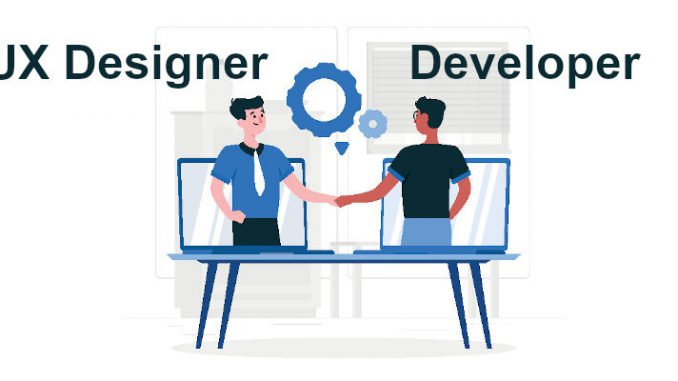 Collaboration between UI and UX designers and developers